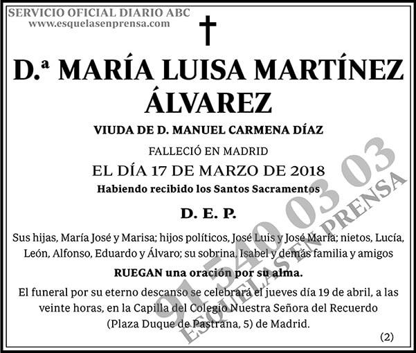 María Luisa Martínez Álvarez